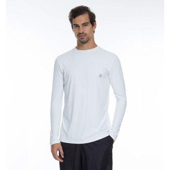 Camiseta com Proteção Solar Repelente Masculina UV.LINE - Branco
