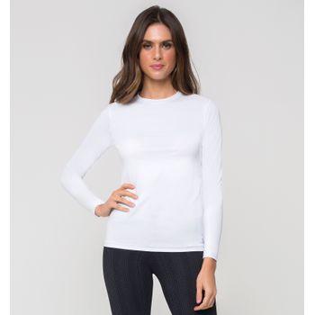 Camiseta com Proteção Solar Térmica Feminina - Branco