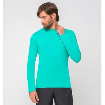 Camiseta UV com Proteção Solar Uvpro Masculina UV.LINE - Verde Menta