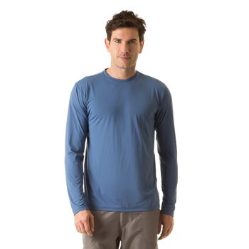 Camiseta UV com Proteção Solar Uvpro Masculina UV.LINE - Índigo