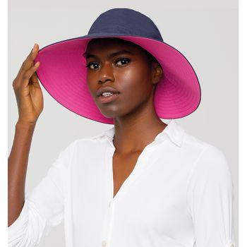 Chapéu com Proteção Solar UV San Diego UV.LINE - Marinho e Pink