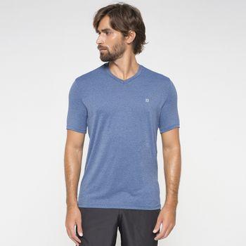Camiseta com Proteção Solar Sport Fit Mescla UV.LINE - Índigo