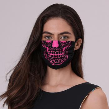Máscara para Proteção de Algodão Caveira Mexicana UV.LINE