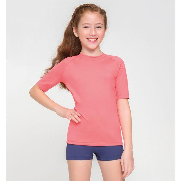 Camiseta UVPRO Infantil com Proteção Solar UV.LINE Coral