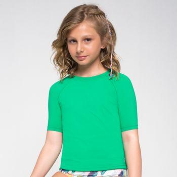 Camiseta com Proteção Solar Uvpro Infantil UV.LINE - Verde Folha