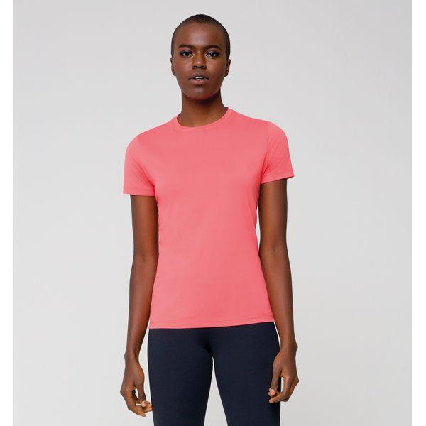 Camiseta com Proteção Solar UVPRO Feminina UV.LINE - Coral