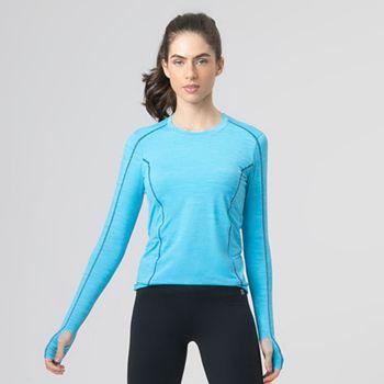 Camiseta com Proteção Solar UV Flex Feminina UV.LINE - Azul Céu