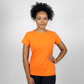 Camiseta com Proteção Solar UVPRO Feminino UV.LINE - Laranja