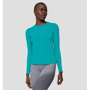 Camiseta com Proteção Solar UVPRO Feminina UV.LINE - Verde Mar