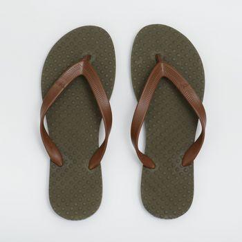 Chinelo Green Flip Flops Masculino - Musgo/Marrom