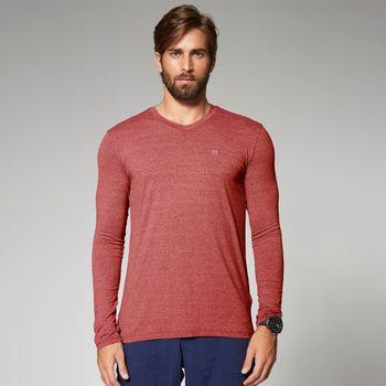 Camiseta com Proteção Solar UV Sport Fit Mescla UV.LINE - Vermelho