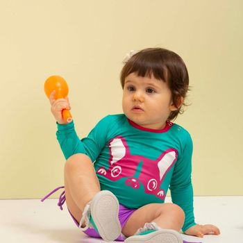 Camiseta Baby com Proteção Solar UV Dog UV.LINE - Verde