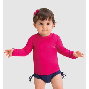 Camiseta Baby com Proteção Solar UV.LINE Nina Pink