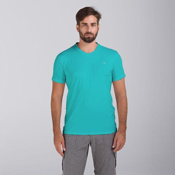 Camiseta com Proteção Solar UV Sport Fit Masculina UV.LINE - Verde Caraiva