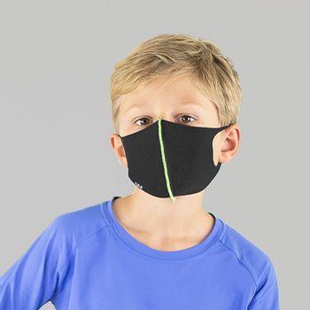 Máscara Sport Infantil Com Proteção Solar UVLINE Preto