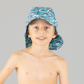 Boné Legionário Infantil com Proteção Solar UV.LINE Estampa Peixes