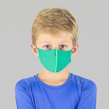 Máscara Sport Infantil Com Proteção Solar UVLINE Verde