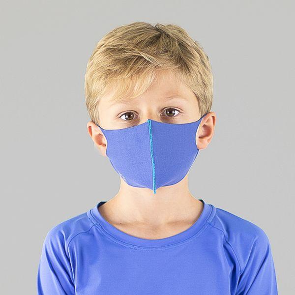 Máscara Sport Infantil Com Proteção Solar Uvline Preto Azul