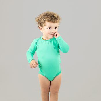 Maiô Baby com Proteção Solar  UV UV.LINE - Verde