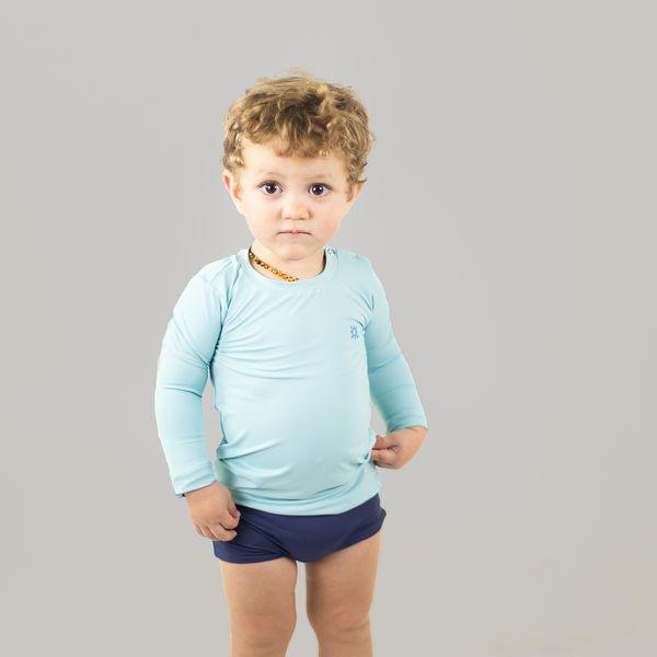 Nino Camiseta Baby com Proteção Solar UV.LINE Azul Claro