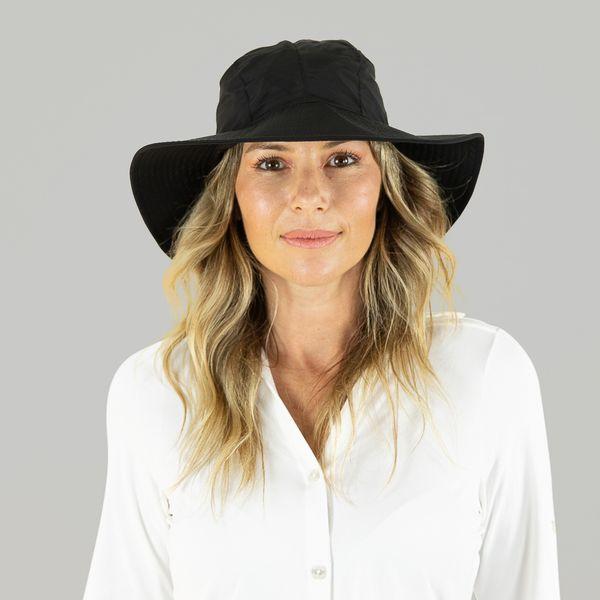 Chapéu com Proteção Solar UV.LINE San Remo Preto/Cinza