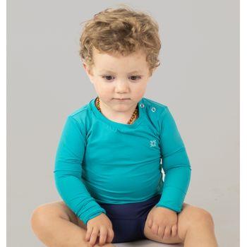 Camiseta Baby com Proteção Solar UV.LINE Nina Verde Mar