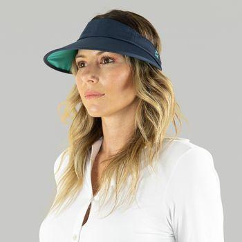 Leblon Viseira com Proteção Solar UV.LINE Marinho/Turquesa