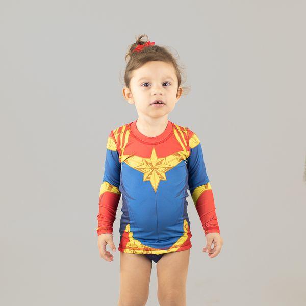 Camiseta Acqua com Proteção Solar UV.LINE Estampa Capitã Marvel