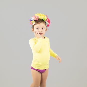 Camiseta Baby UV com Proteção Solar Nino UV.LINE - Amarelo Claro