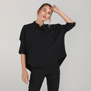Camisa Basic Feminina  com Proteção Solar UV.LINE Preto
