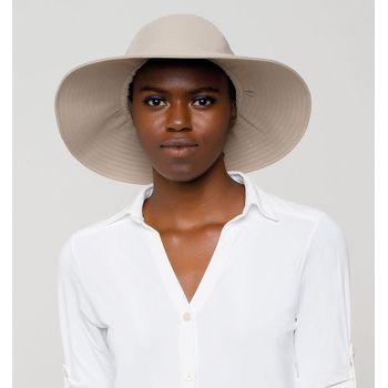 Lyon Chapéu Com Proteção Solar UVLINE Areia
