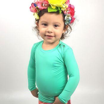 Camiseta Baby Com Proteção Solar UV.LINE Nino Verde Claro
