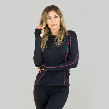 Camiseta UV com Proteção Solar Flex Feminina - Preto