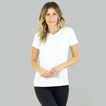 Sport Fit Camiseta com Proteção Solar Feminina UV.LINE Branco