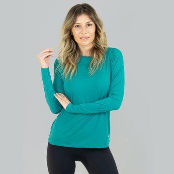 Camiseta com Proteção Solar UVPRO  Feminina UV.LINE - Verde Hortelã