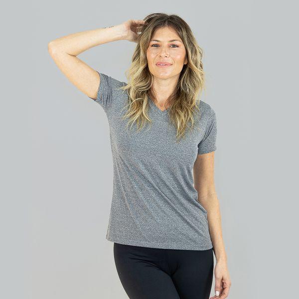 Camiseta com Proteção Solar UV Sport Fit Mescla UV.LINE - Mescla