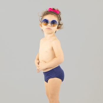 Sunkini Hot Pant Com Proteção UV.LINE Marinho