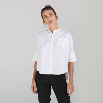 Camisa Basic Feminina Com Proteção Solar UV.LINE Branco