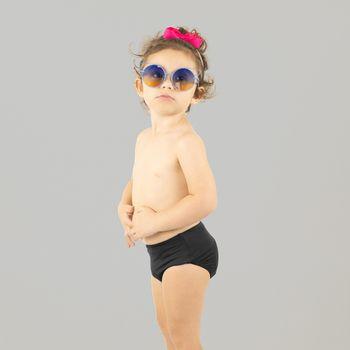 Sunkini Hot Pant Com Proteção UV.LINE Preto