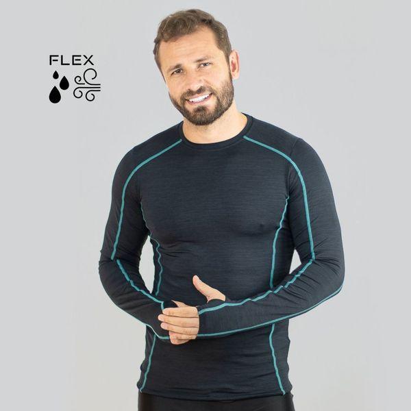 Camiseta Flex com Proteção Solar UV.LINE Preto