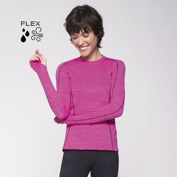 Camiseta com Proteção Solar UV Flex Feminina UV.LINE - Pink