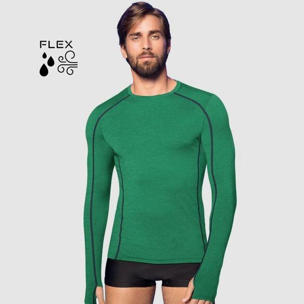 Camiseta com Proteção Solar Flex Masculina - Verde