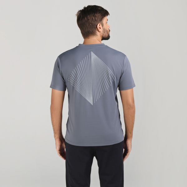 Camiseta Fit Sports com Proteção Solar UV.LINE Chumbo