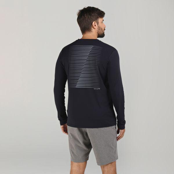Camiseta Fit Sports com Proteção Solar UV.LINE Preto