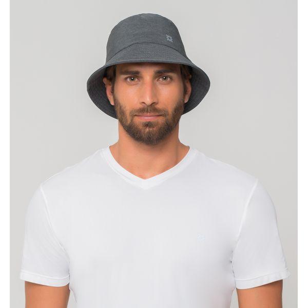 Chapéu Toronto Colors Com Proteção Solar UV.LINE Cinza Mescla
