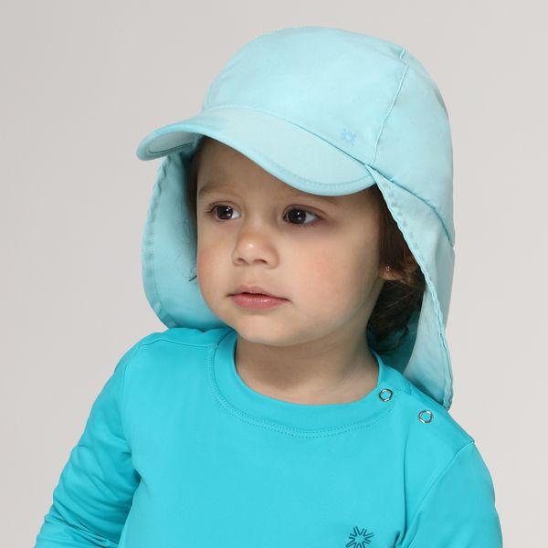 Boné Legionário Basic Kids Com Proteção Solar UV.LINE Verde Água