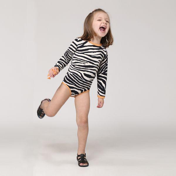 Maiô Body Baby Com Proteção Solar UV.LINE Estampa Zebra