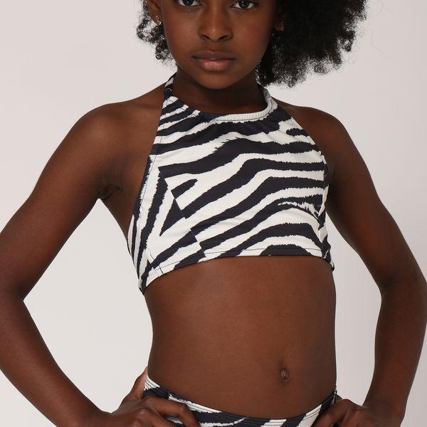Trikini Infantil Com Proteção Solar UV.LINE Estampa Zebra
