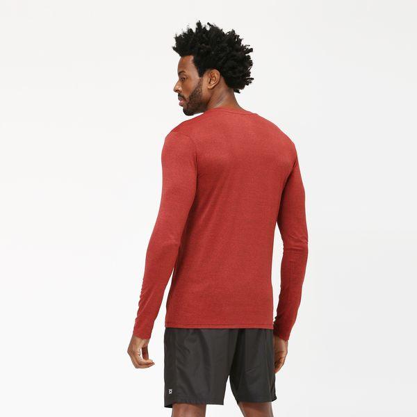 Camiseta Sport Fit Mescla Com Proteção Solar UV.LINE Vermelho