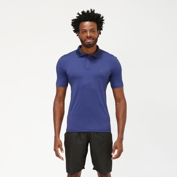 Camiseta Polo Com Proteção Solar UV.LINE Marinho